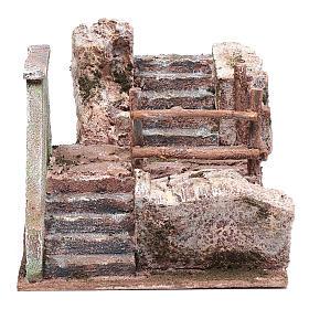 Treppe für Krippe auf Stein 15x20x25cm s1