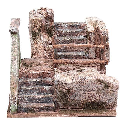 Treppe für Krippe auf Stein 15x20x25cm 1