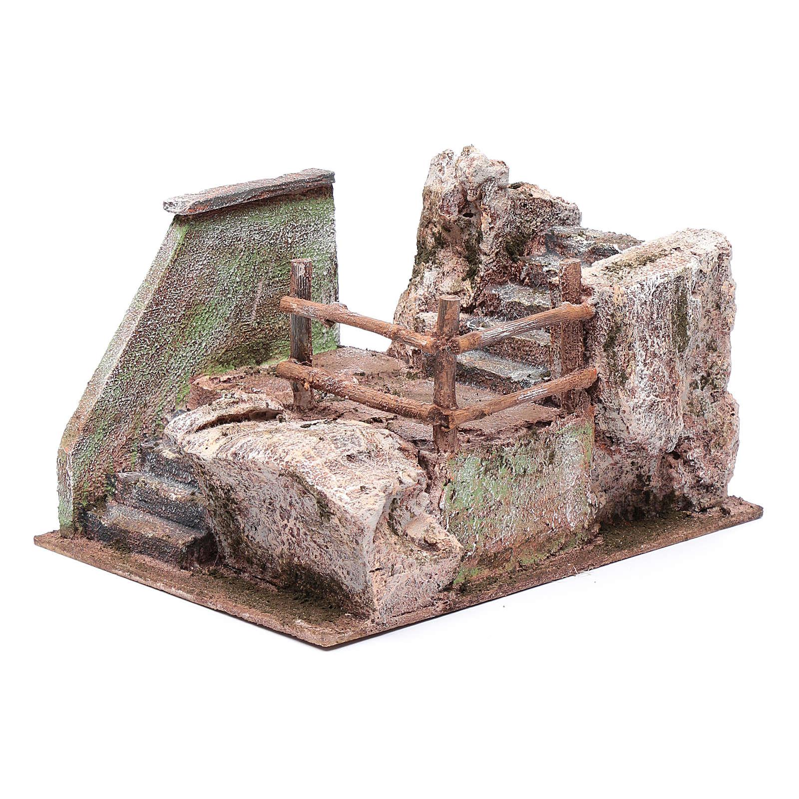 Scala presepe su roccia 15x20x25 cm 4