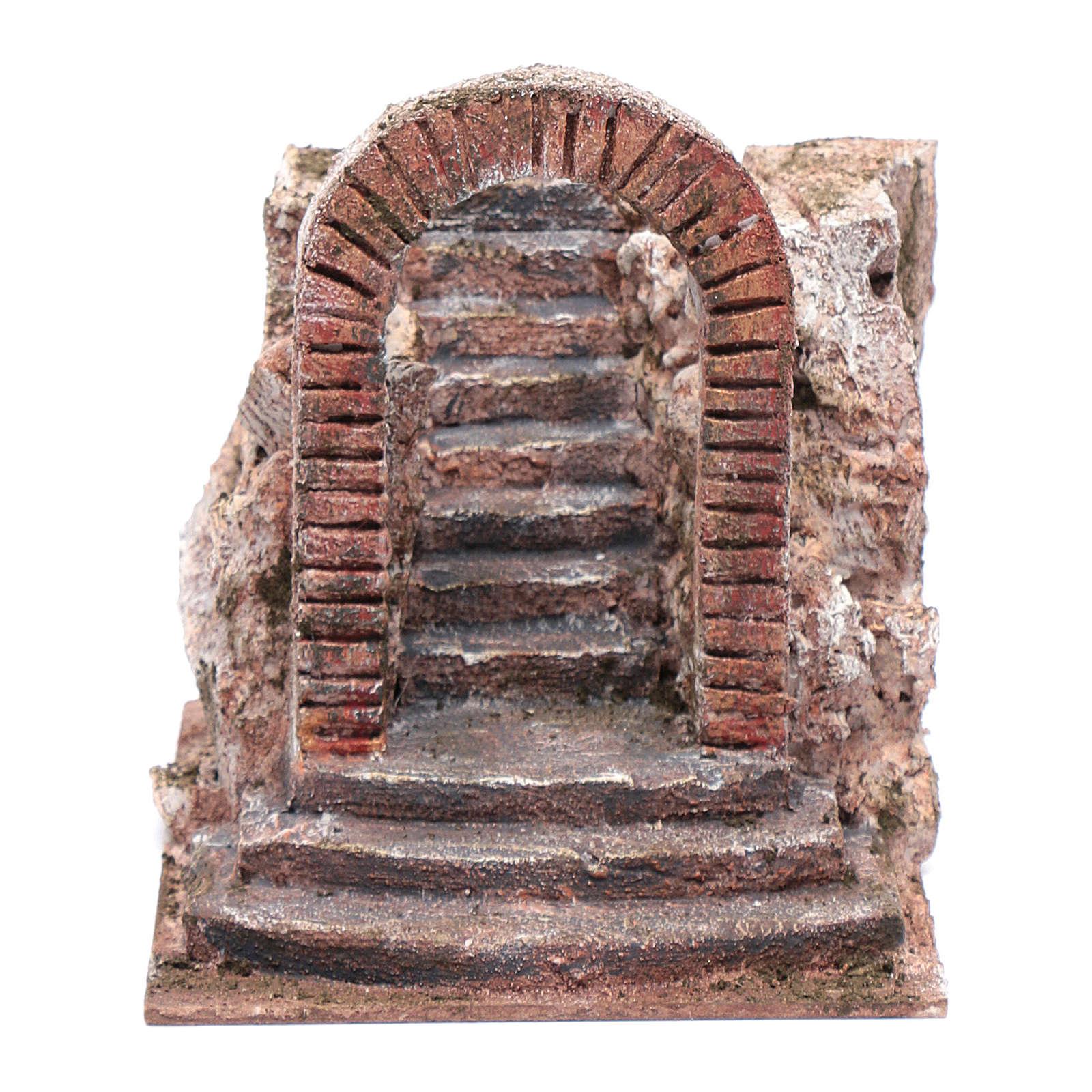 Treppe mit Bogen für Krippe 15x15x20cm 4
