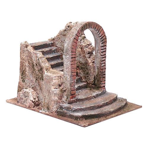 Escalier crèche avec arc 18x18x24 cm 3