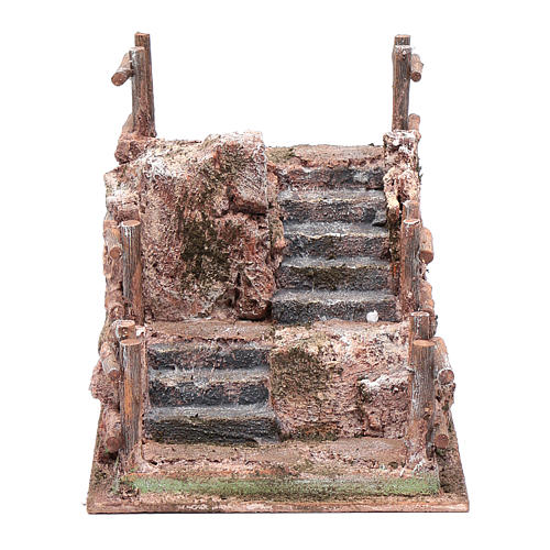 Nativity scene staircase with railing 15x15x20 cm 1