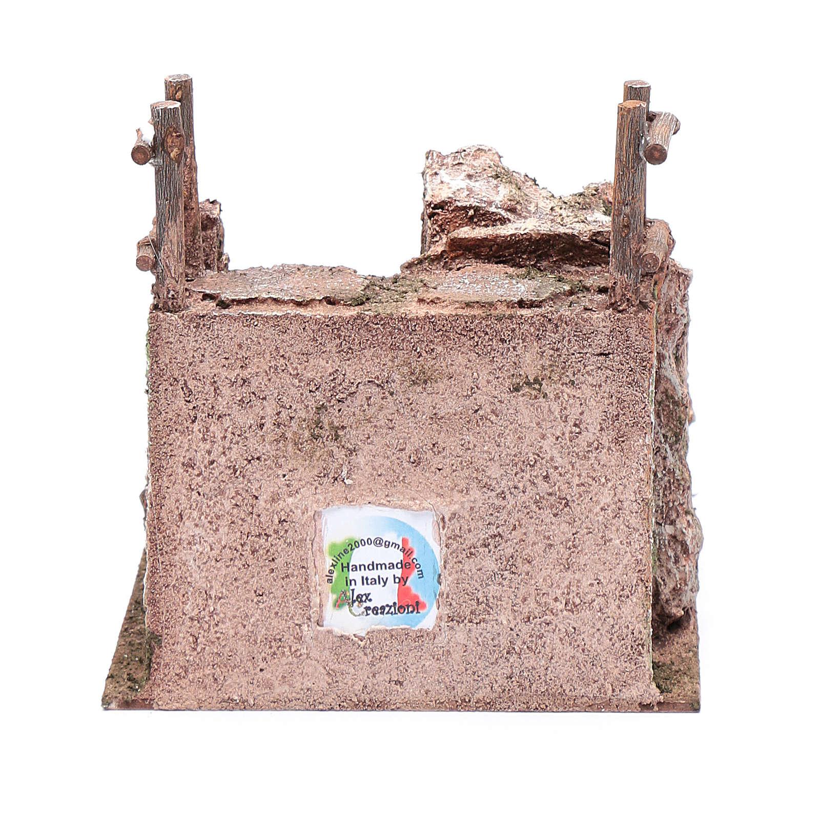 Scala presepe con parapetto 15x15x20 cm 4