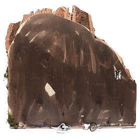Bourgade pour crèche napolitaine 75x80x40 cm avec portes en bois s4
