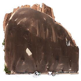 Neapolitan nativity scene village  75x80x40 cm with wooden doors s4
