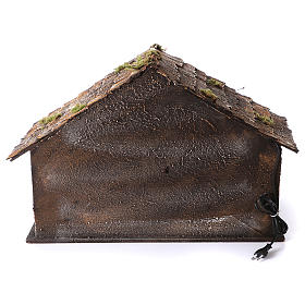 Hut with trough and light 45x60x50 cm for Neapolitan nativity scene s4