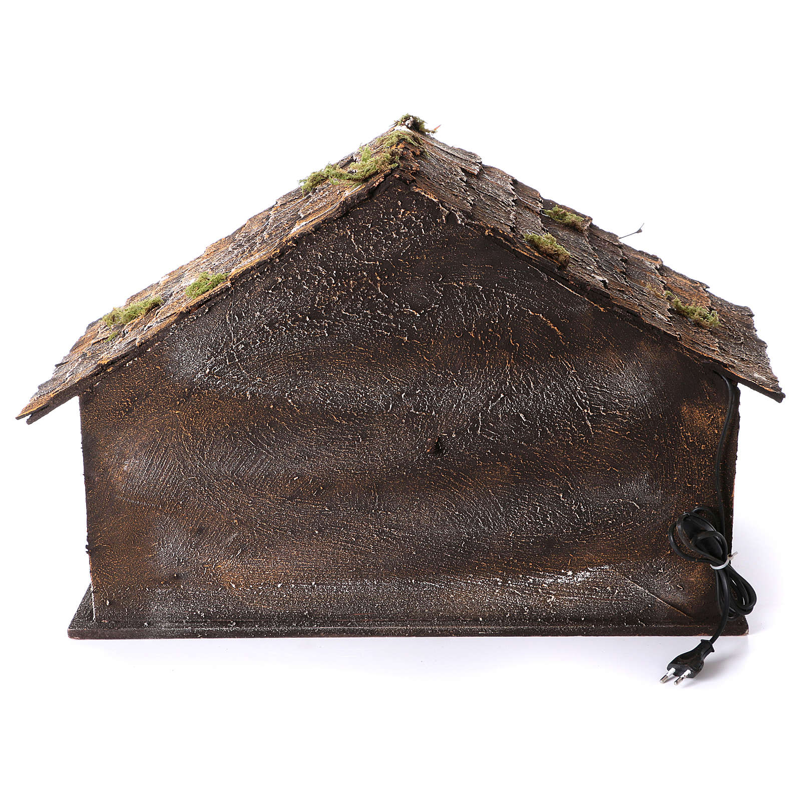 Hut with trough and light 45x60x50 cm for Neapolitan nativity scene 4