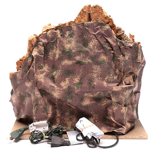 Capanna in borghetto con cascata e scala 40x40x30 cm 4