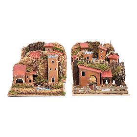 Set 6 casette ambientazioni presepe 15x20x15 cm s2
