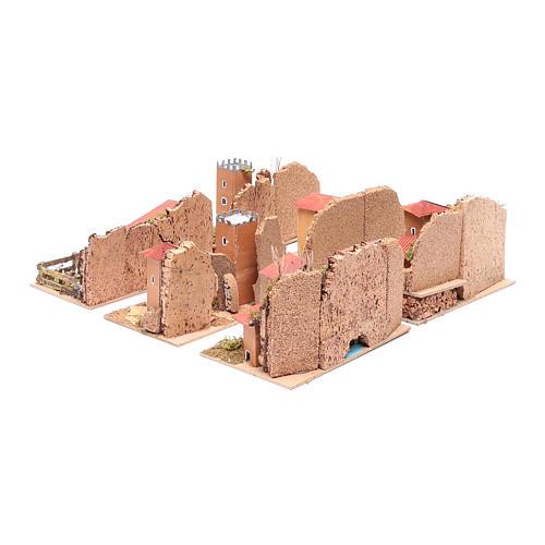Set 6 casette ambientazioni presepe 15x20x15 cm 4