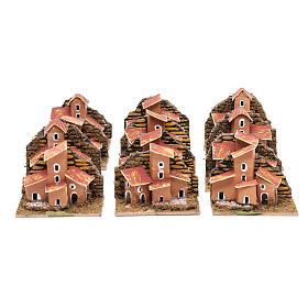 Set 12 piezas casitas 5x10x5 cm belén hecho con bricolaje s2