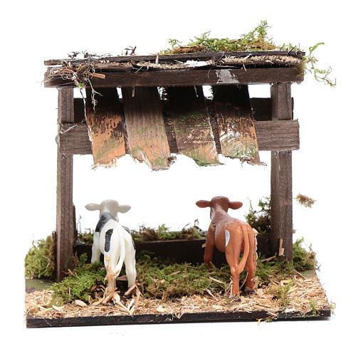 Enclos pour vaches avec toit 12x14,5x10 cm 4