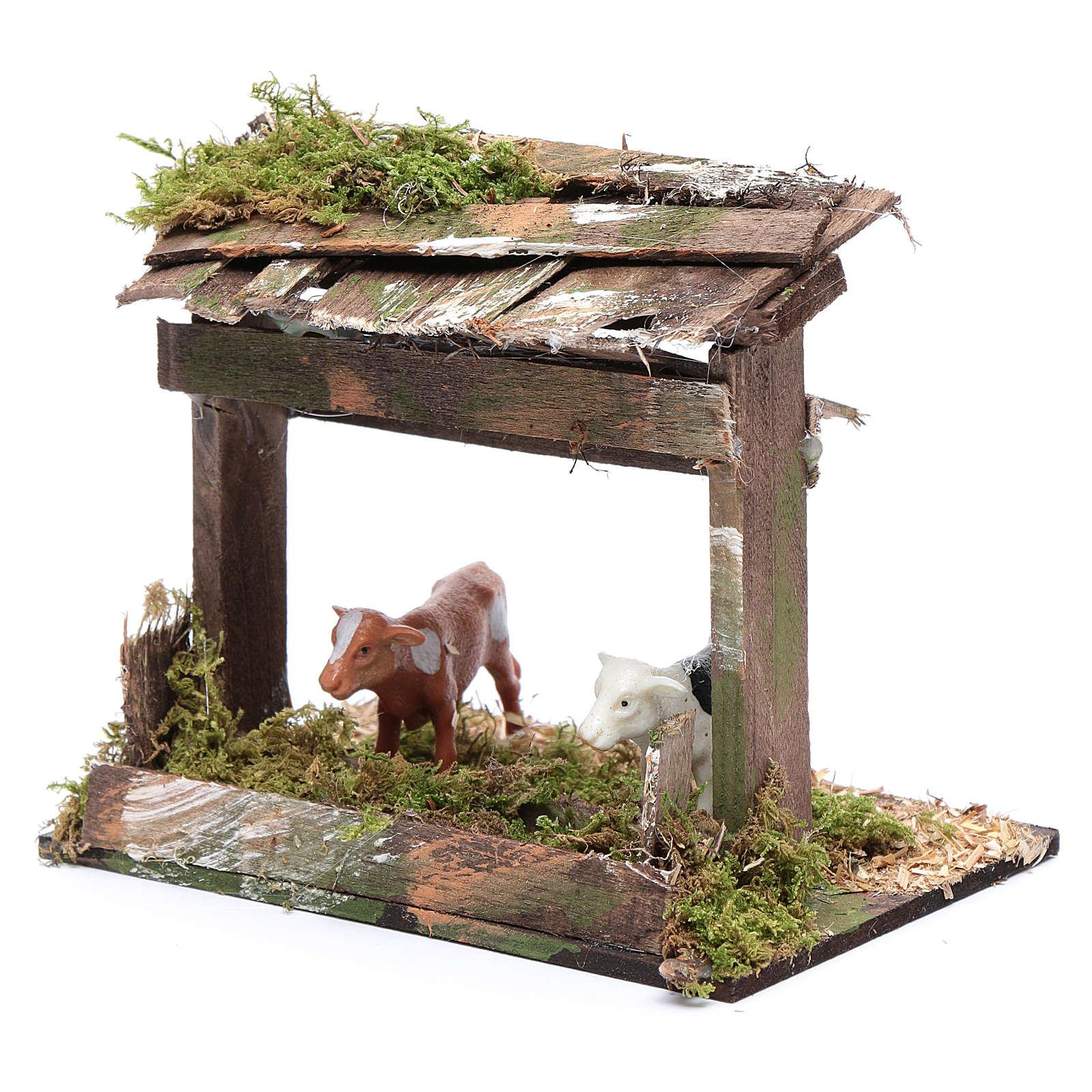 Recinto di mucche con tetto 10x15x10 cm 4