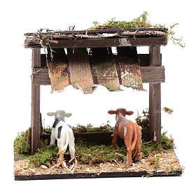 Recinto di mucche con tetto 10x15x10 cm s4