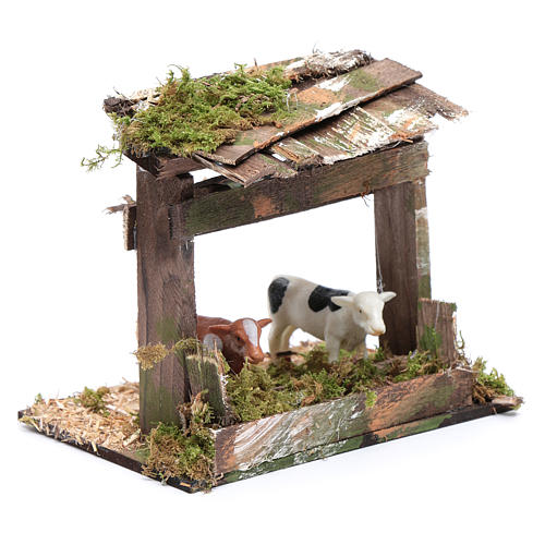 Recinto di mucche con tetto 10x15x10 cm 3