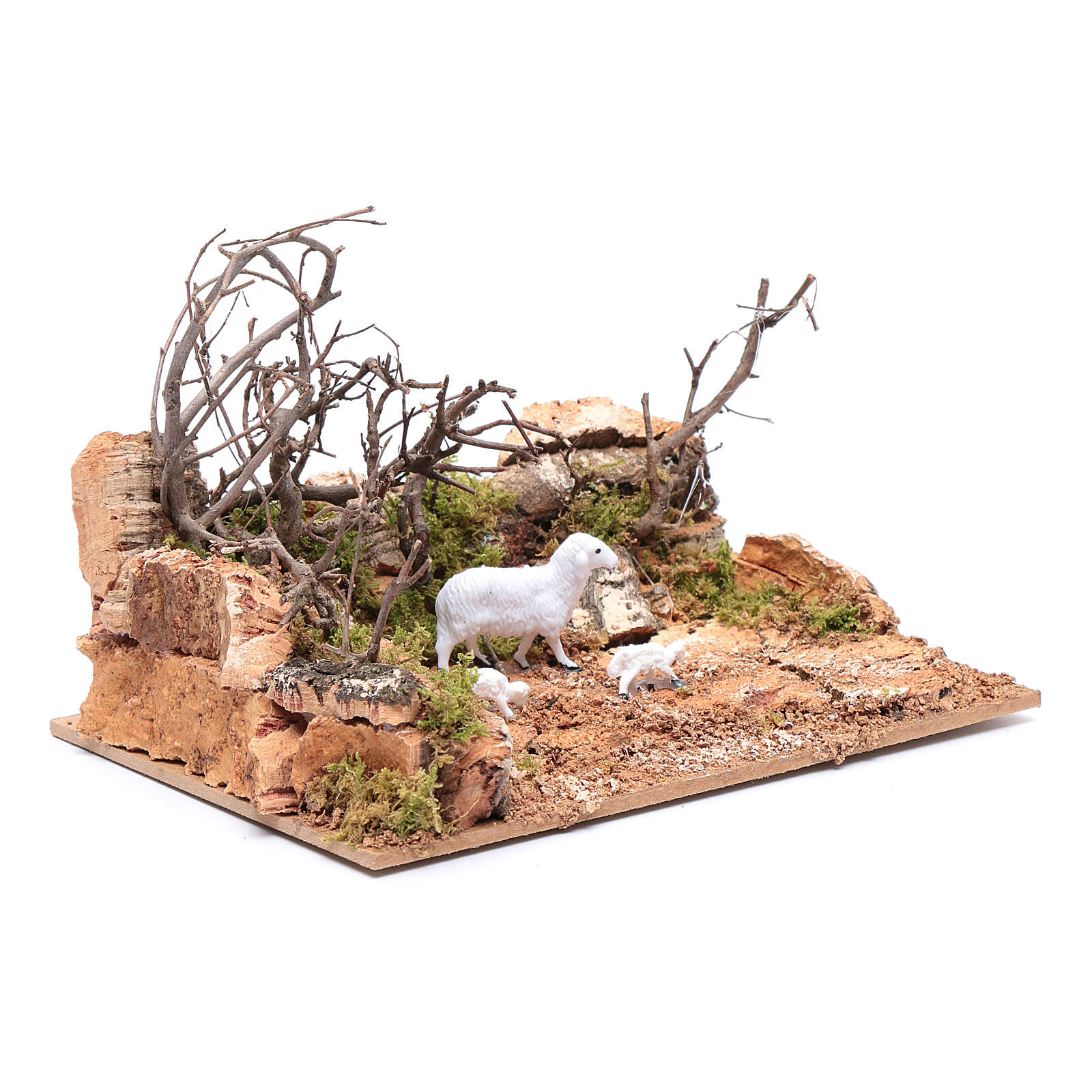 Landscape with sheep setting  10x20x15 cm 4