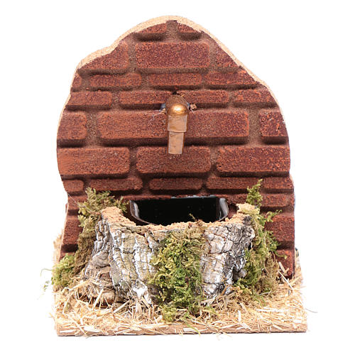 Fountain on wall with HK-200 pump nativity scene accessory 1
