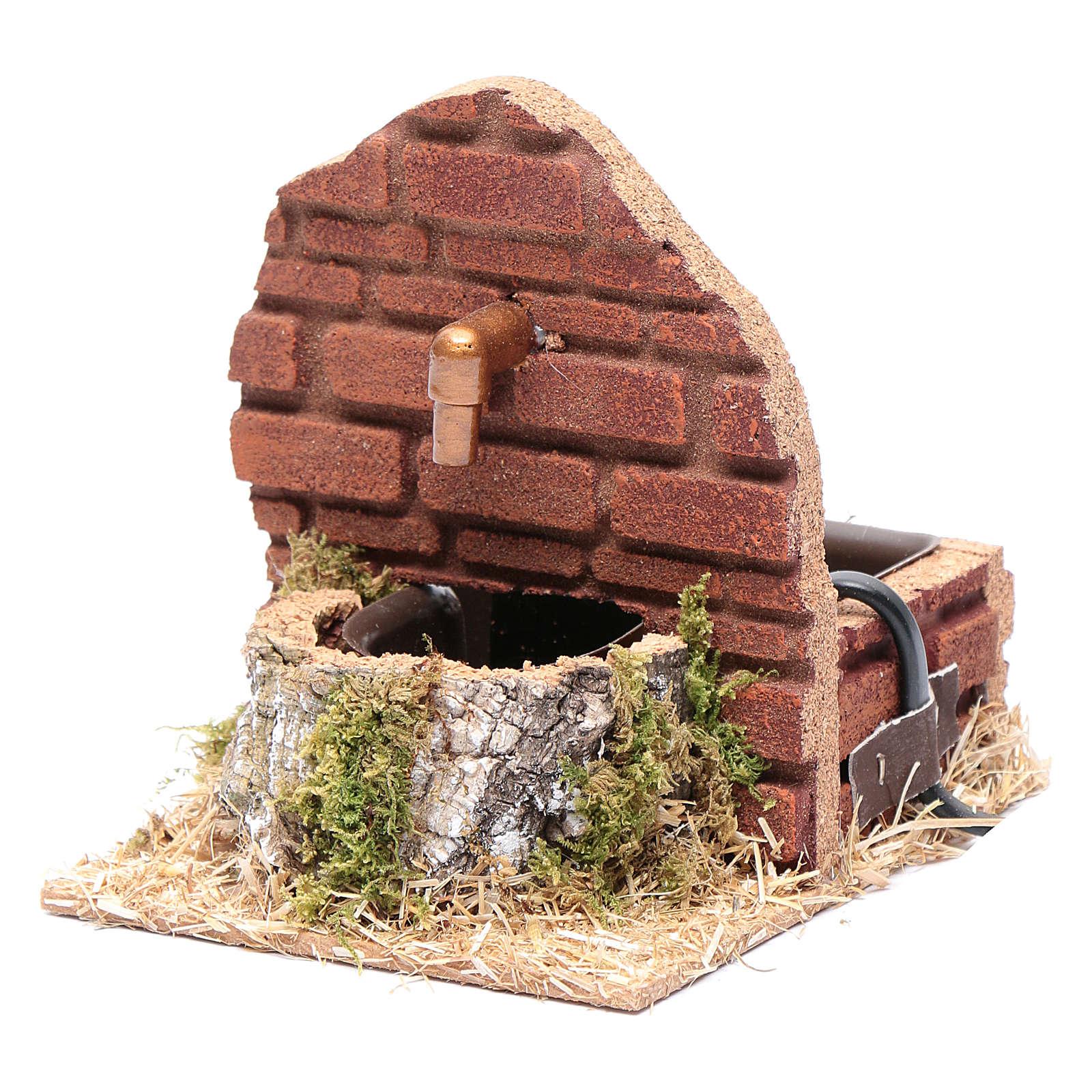 Fuente sobre muro y bomba HK-200 accesorio belén 4