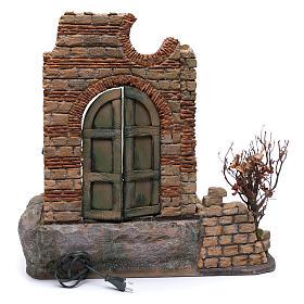 Puerta de madera en ambientación belén Nápoles 60x55x50 s4