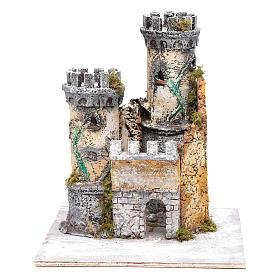 Castello due torri 30x25x25 cm presepe di Napoli s1