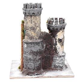 Castello due torri 30x25x25 cm presepe di Napoli s4