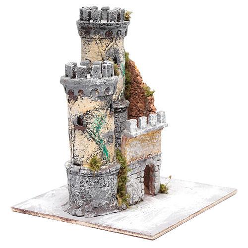 Castello due torri 30x25x25 cm presepe di Napoli 3