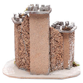 Castle with three towers 30x25x25 cm for Neapolitan nativity scene s4