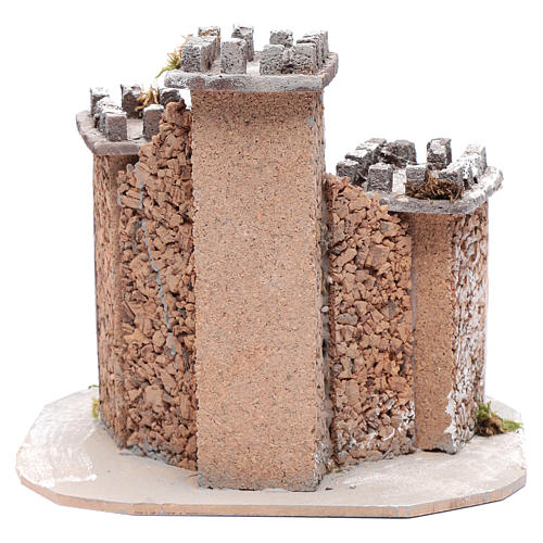 Castle with three towers 30x25x25 cm for Neapolitan nativity scene 4