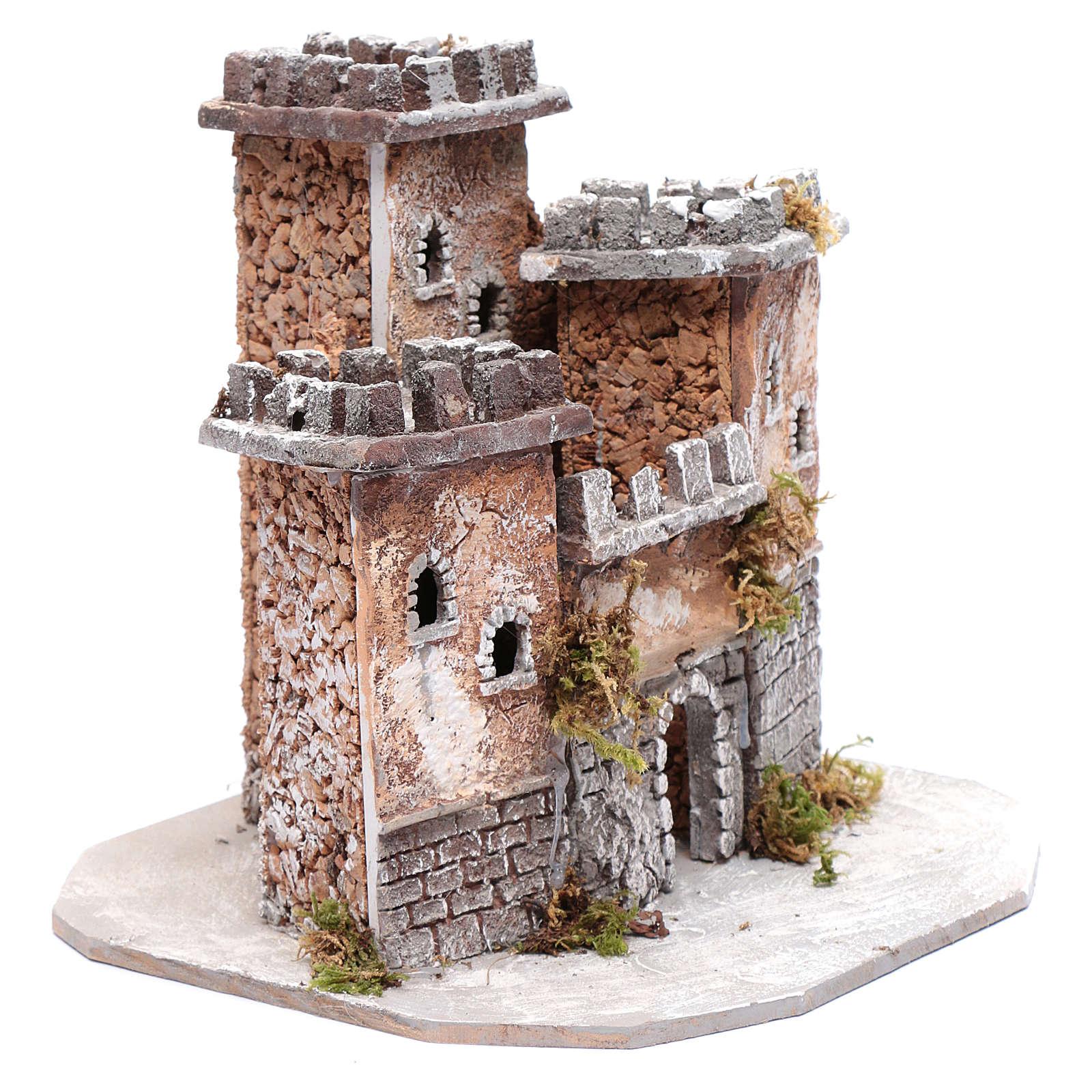 Ambientación castillo tres torres 25x25x25 cm belén de Nápoles 4