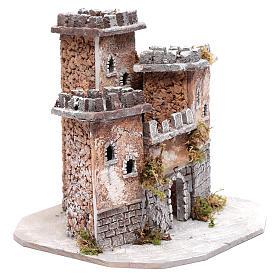 Ambientación castillo tres torres 25x25x25 cm belén de Nápoles s3