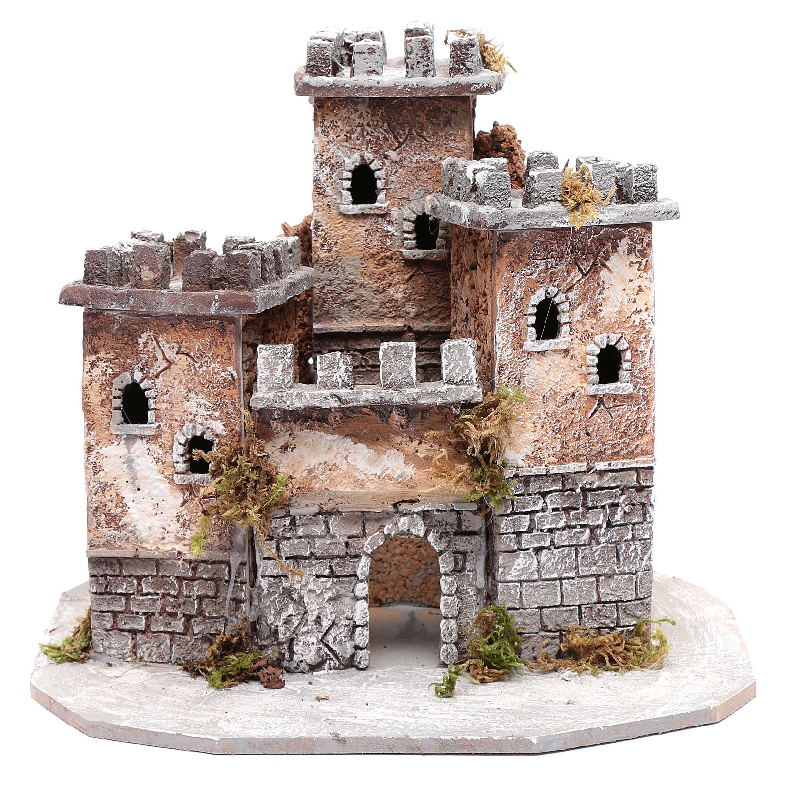 Castle with three towers 30x25x25 cm for Neapolitan nativity scene 4