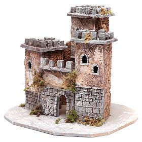 Castle with three towers 30x25x25 cm for Neapolitan nativity scene s2
