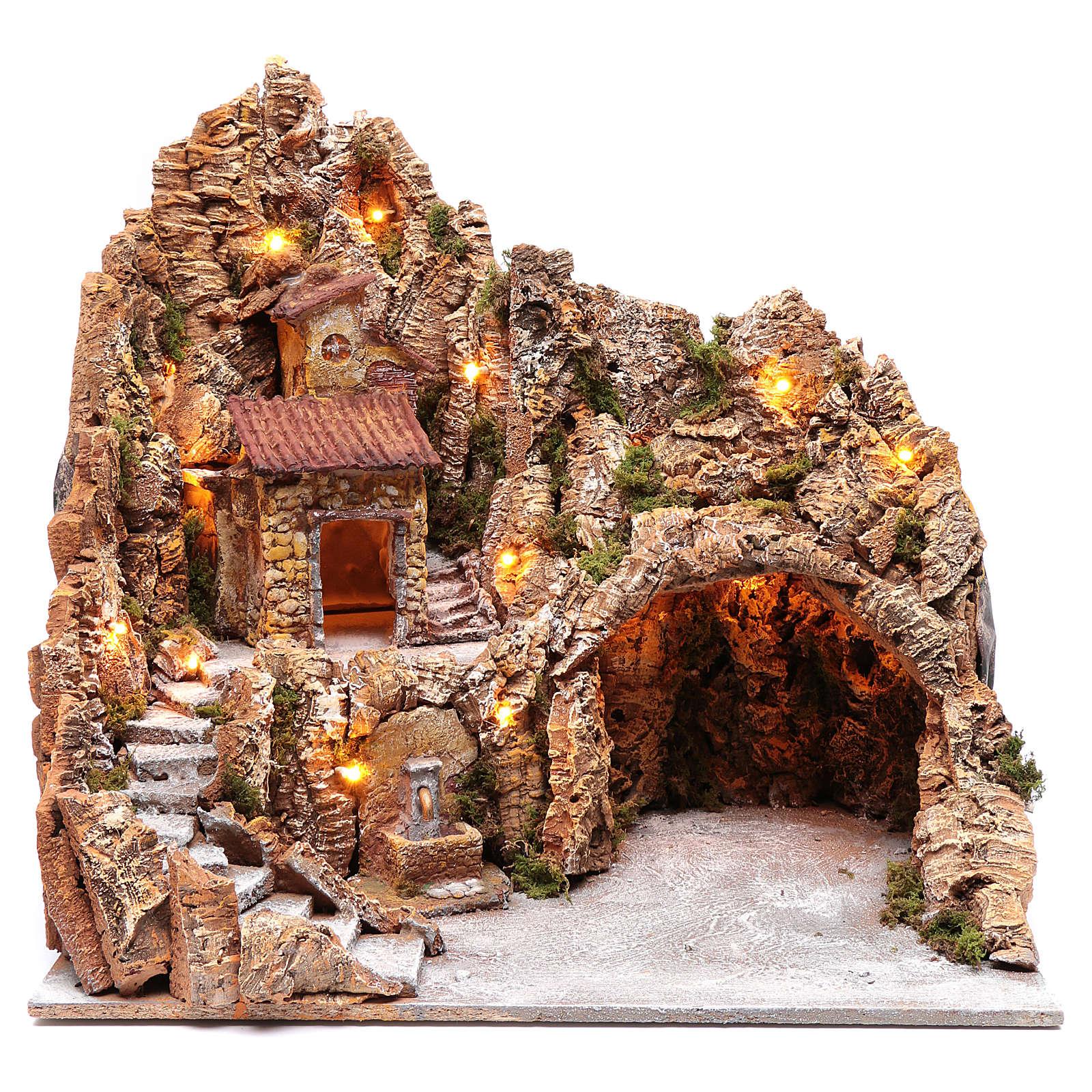 Décor crèche de Naples cabane et fontaine 49,5x50x40 cm 4