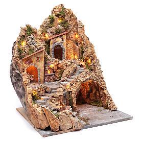 Ambientación belén napolitano gruta, fuenta y horno 60 x 45 x 45 cm s3