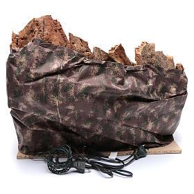 Gruta Natividad río y horno belén napolitano 45 x 50 x 40 cm s4