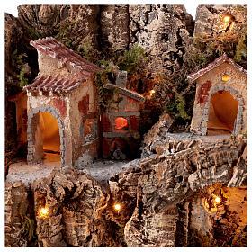 Gruta Natividad río y horno belén napolitano 45 x 50 x 40 cm s2