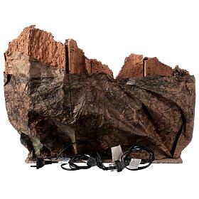 Gruta Natividad río y horno belén napolitano 45 x 50 x 40 cm s6