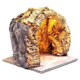 Cueva belén napolitano 25x25x25 cm iluminada s3