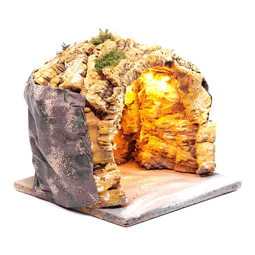 Grotta 20x20x20 cm con luci presepe di Napoli 3
