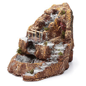 Neapolitan nativity scene stream with bridge and resin stairs s2