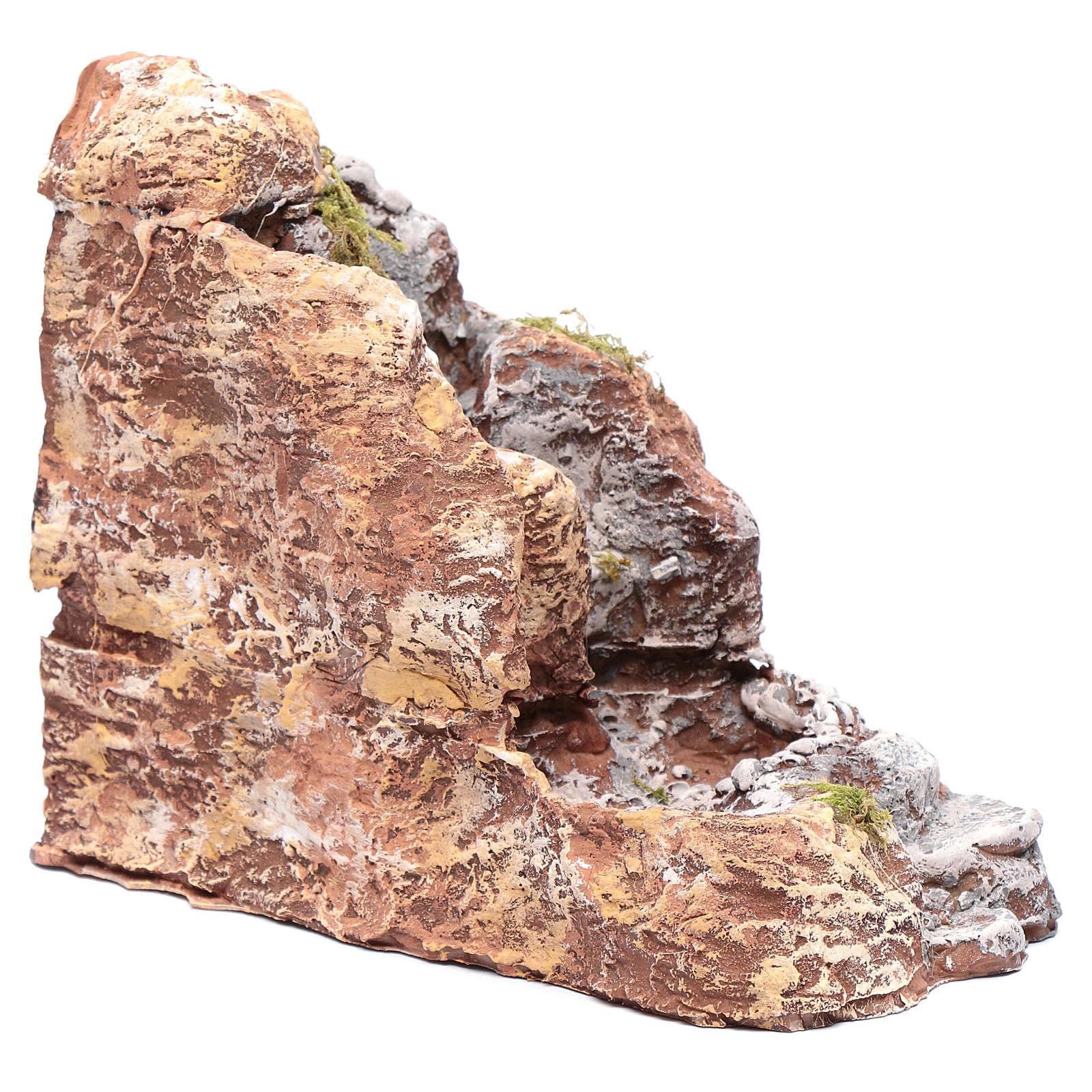 Ruscello in resina presepe napoletano 20x10x20 cm 4