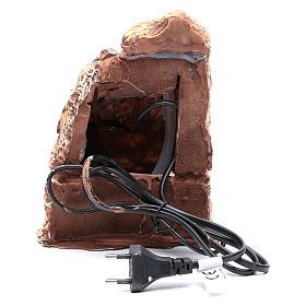 Nativity scene stream in resin 20x10x20 cm s4