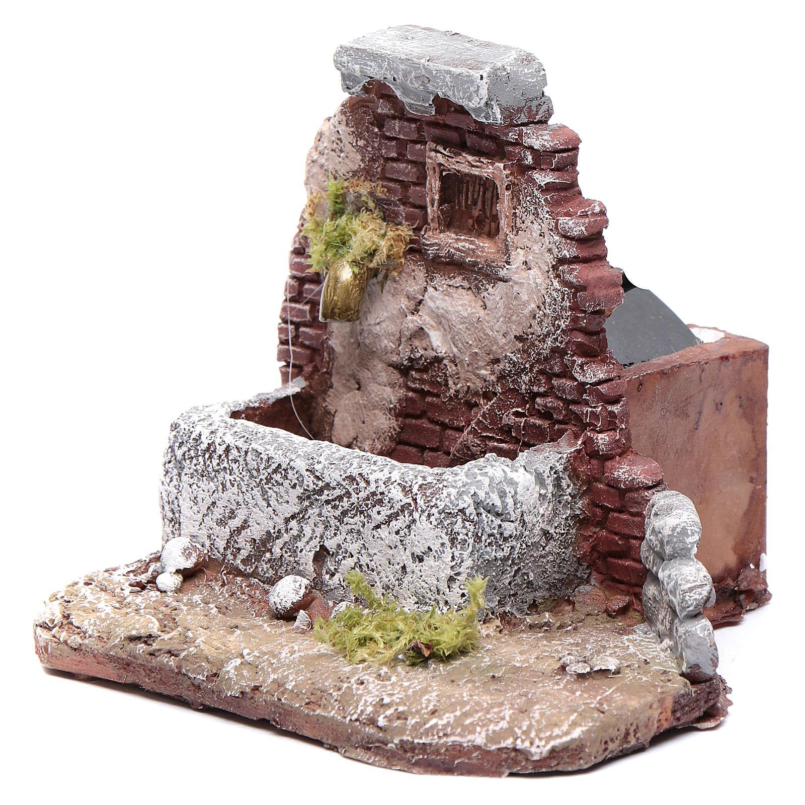 Fontaine crèche de Naples en résine 11x12x11,7 cm avec pompe 4