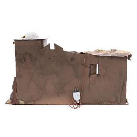 Arabian style Neapolitan Nativity scene setting with hut  35x60x25 cm s4