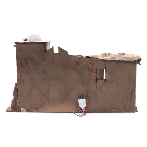 Arabian style Neapolitan Nativity scene setting with hut  35x60x25 cm 4