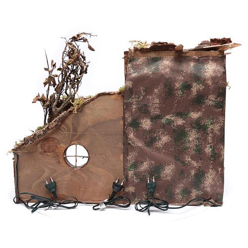 Ambientación cortijo moro con portal 35x60x25 cm pesebre Nápoles 8