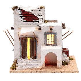 Casa mora puertas y ventanas pesebre napolitano 30x30x25 cm s1