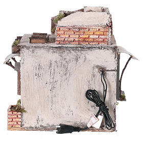 Casa mora puertas y ventanas pesebre napolitano 30x30x25 cm s5