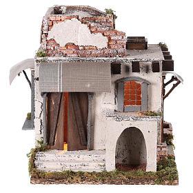 Casa araba porte e finestre 30x30x25 cm presepe di Napoli s1