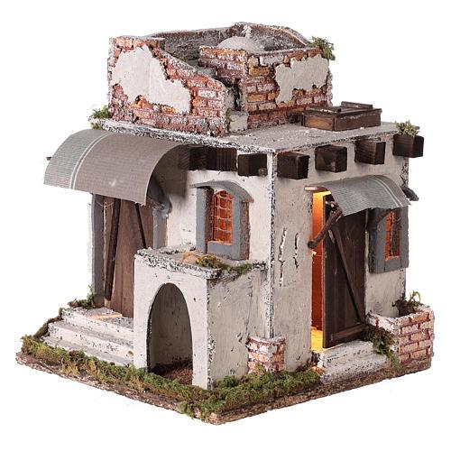 Casa araba porte e finestre 30x30x25 cm presepe di Napoli 3